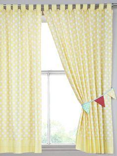 Ladybird Caravan Of Fun Curtains With Tie Backs Camper Nursery Curtain