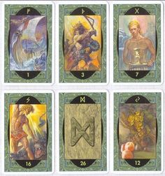 RAR Wikinger Runen Orakel Karten Oracle des Runes Rune Oracle Tarot Wahrsagen