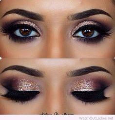 Smokey Eye Make-up - MakeUp Inspiration & Brands - Eye-Makeup Pretty Makeup, Love Makeup, Makeup Inspo, Makeup Inspiration, Makeup Ideas, Amazing Makeup, Makeup Tutorials, Makeup Hacks, Sweet 16 Makeup