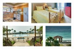 Mediterranea E315 - Destin Florida  3B/3B Unit - All Bedrooms of View Facing the Gulf of Mexico.