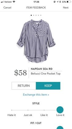 Stitch Fix Spring 2018 Napean Sea RD Bellucci One Pocket Top Your first $20 styling fee is waived when you sign up using this referral link! :)