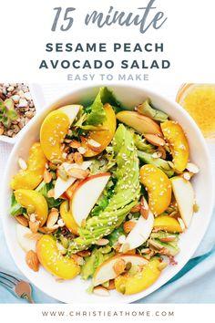 Avocado Salad Recipes, Easy Salads, Healthy Salad Recipes, Vegan Recipes, Avocado Dishes, Meatless Recipes, Whole30 Recipes, Healthy Lunches, Detox Recipes