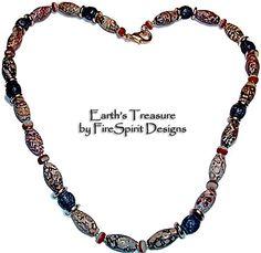 Earth's Treasure-  ooak, man's gemstone necklace by FireSpirit Designs on Etsy, $38.00