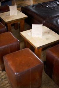 DIY Leather Cube Ottoman
