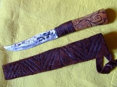 Steppe man's knife by RUNICforge on Etsy