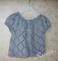 Baby Knitting Patterns Cardigan Ravelry: Silver Cardigan pattern by Kristiina Temin Baby Knitting Patterns, Free Baby Patterns, Knitting For Kids, Free Pattern, Cardigan Pattern, Baby Cardigan, Knit Baby Sweaters, Knit Crochet, Couture