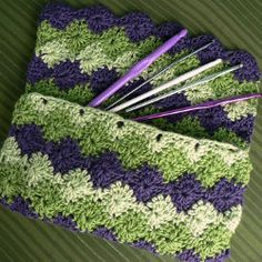 Crochet Bag Patterns, @Rachel VanSchoiack, you can finally make one like your grandmas! this would be pretty in an afghan also!!! love the colors!!