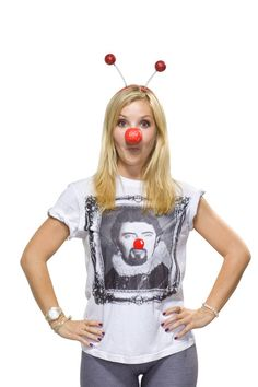 Helen Skelton ~ Comic Relief Red Nose Day Helen Skelton, Red Nose Day, Star Wars Girls, Tv Presenters, Comic, Celebrity, Pure Products, Fashion, Moda