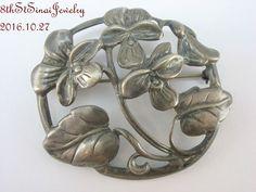 Estate Danecraft Felch Co Sterling Silver 925 Large Flower Floral Brooch Pin #DanecraftFelchCo