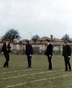 """The Beatles in """"A Hard Day's Night"""", 1964 - colour edit by imonlysleeping"""