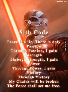 Code of the Sith (See Jedi one in my posts) - 9GAG