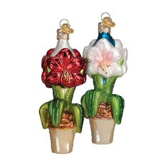 The Jolly Christmas Shop - Old World Christmas Amaryllis Glass Ornament 36165, $12.99 (http://www.thejollychristmasshop.com/old-world-christmas-amaryllis-glass-ornament-36165/)