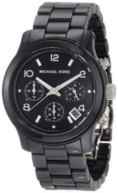 50f4ca06ae Women s Black Acrylic Link Bracelet Quartz Chronograph