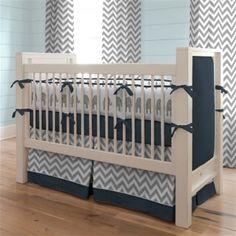 Grey chevron and navy blue nursery!!!