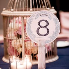 Free Printable Vintage Wedding Table Numbers from @chicfettiwed
