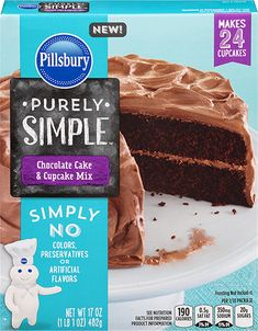 Pillsbury Purely Simple Cake Mixes - Flavors: White and Chocolate Free from: Pea. Vanilla Cake Mixes, Chocolate Cake Mixes, Chocolate Flavors, Mayonaise Cake, Cupcake Mix, Cake Recipes, Dessert Recipes, My Dessert, Cake Batter