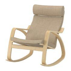 $179 POÄNG Rocking chair, birch veneer, Isunda beige - Isunda beige - birch veneer - IKEA