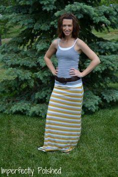 DIY maxi skirt...