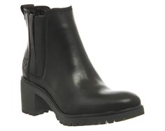 Timberland Averly Chelsea Black Smooth Leather - Ankle Boots