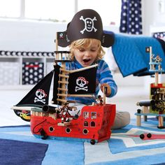 Red Jack's Wooden Pirate Ship - All Toys - Toys