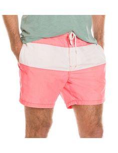 e089b7a563 Coral Red Block Splice Swm Shor. Swimwear Lover ♥♥♥ · men's shorts
