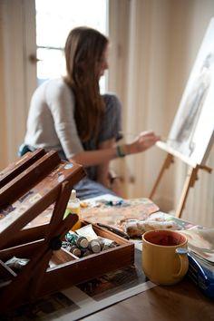 River painting in Luka's studio. Story Inspiration, Photoshoot Inspiration, Art Studios, Artist At Work, Art Photography, Levitation Photography, Exposure Photography, Lifestyle Photography, Artsy