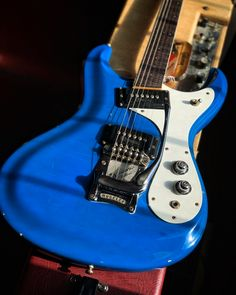Here's an awesome surf rock survivor from '66! This Mosrite Ventures Model is ready to spring into action with two single coil pickups and a Moseley tailpiece. Make it yours at elderly.com. Spring Into Action, Electric Guitars, Surfing, Make It Yourself, Rock, Awesome, Model, Skirt, Surf