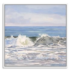 Found it at Wayfair - Dark Green Turquoise Sea by Casey Chalem Anderson Framed Painting Print on Canvas
