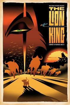 Long Live the King. A reimagined movie poster by Disney artist Eric Tan.