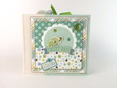 Baby Boy Scrapbook Mini Album Kit or Premade Newborn Gift