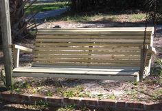 How to build a porch swing bench - READ INSTRUCTIONS CAREFULLY - BE WARNED THAT THE SHOPPING LIST IS INACCURATE!!