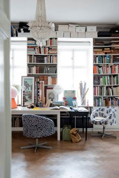 Walls full of books!