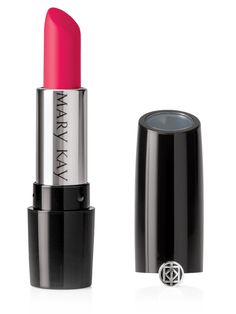 Mary Kay Gel Semi-Matte Lipstick in Powerful Pink, $18; marykay.com