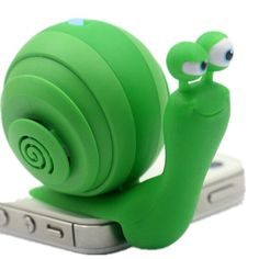 Portable Snail Speaker with 3.5mm Audio Plug and Stereo Sound Mini Snail Mobile Phone Speaker (GREEN)