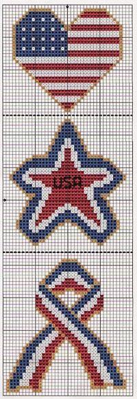 KEK Designs Cross Stitch Patterns: (Free Pattern) stars and stripes Cross Stitch Bookmarks, Counted Cross Stitch Patterns, Cross Stitch Charts, Cross Stitch Designs, Cross Stitch Embroidery, Hand Embroidery, Loom Patterns, Beading Patterns, Embroidery Patterns