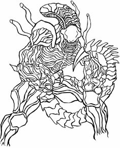 alien vs predatorvm Colouring Pages Coloring pages for Adults