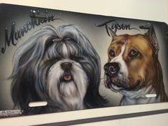 Dog lovers! We are your number one Shop to have your dog airbrushed on a portrait on a jacket on your jeans on a hat! 610-921-8300