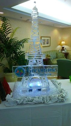Champagne Ice Luge of the Eiffel Tower