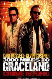 #23.  3000 Miles to Graceland, April, 2013. It was an ingenious enough plan: rob the Riviera Casino's count room during an Elvis impersonator convention. But Thomas Murphy decided to keep all the money for himself and shot all his partners, including recently-freed ex-con Michael Zane. With $3.2 million at stake, the Marshals Service closing in, and single mom Cybil Waingrow and her son Jesse constantly confounding things, Michael must track down Murphy. Despite all-star cast, a box office…