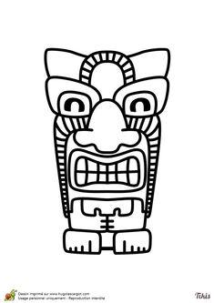 Dessin à colorier d'un Tiki style rasta