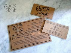 Oliver and Rust Logo