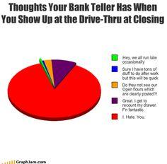 Bank teller humor
