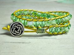 Peridot Wrap Bracelet