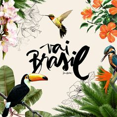 by Karen Hofstetter Why is digital calligraphy so beautiful? by Karen Hofstetter Why is digital calligraphy so beautiful? Poster Design, Art Design, Tropical Design, Tropical Style, Photoshop, Motif Floral, Design Graphique, Grafik Design, Graphic Design Inspiration