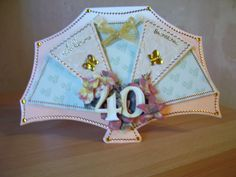 40th birthday fan Girl Boards, Glitter Girl, Shaped Cards, 40th Birthday, Crafts To Make, Inspire, Shapes, Fan, Girls