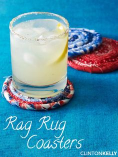 Add a casual chic vibe to your table with these easier coasters inspired by a rag rug.