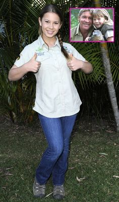The Crocodile Hunter's Little Girl, Bindi Irwin Is All Grown Up!  She's doing a great job of carrying on his legacy of education and conservation.  Rock it girl!!!
