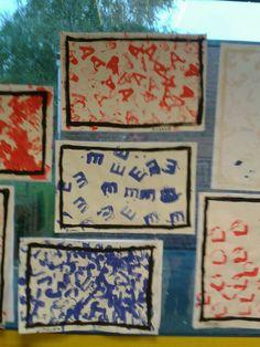 Activite de rentrée chez les Moyens : peinture et empreintes