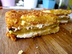 queso fresco cornbread fried green tomato grilled cheese