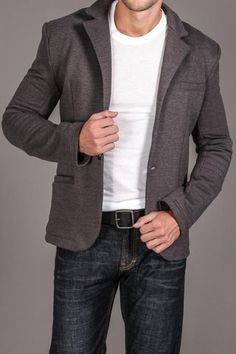 Smart-casual blazer...wouldn't wear the white t shirt with it though...wear a white button up...